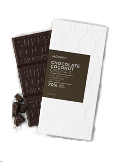 This gourmet healthy chocolate is enriched with omega 3 (DHA) for enhanced health benefits.